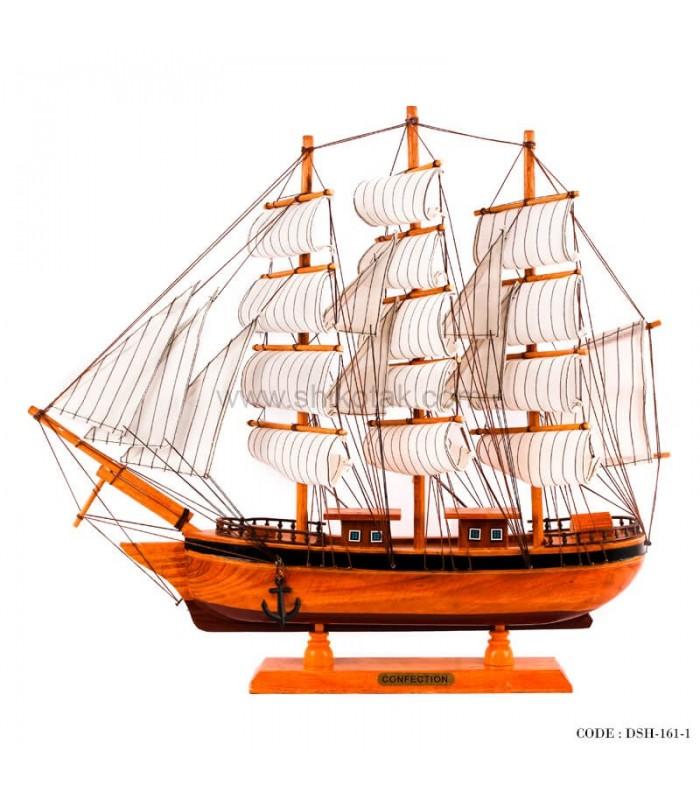 کشتی تزئینی تمام چوب سری 1-161