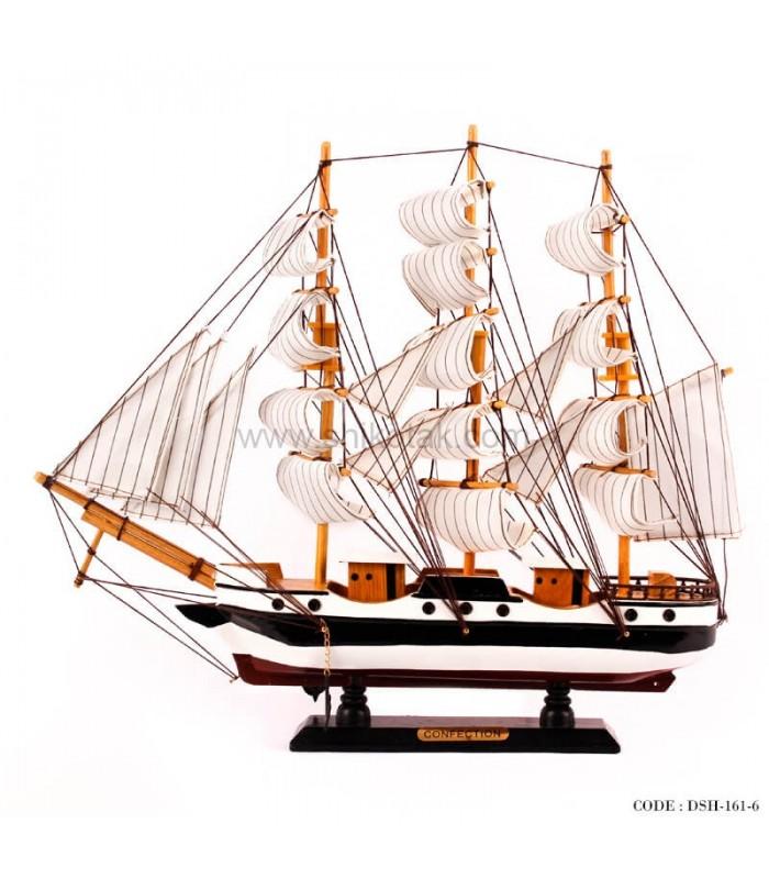 خرید کشتی دکوری چوبی سری 6-161