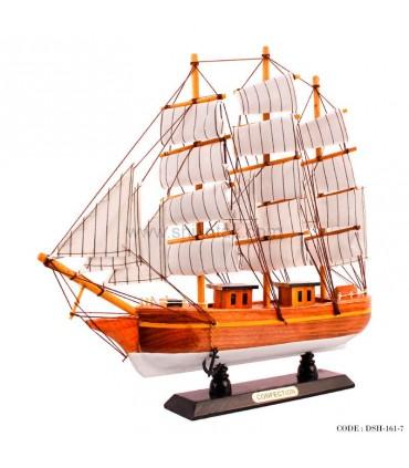 کشتی دکوری بادبانی چوبی سری 7-161