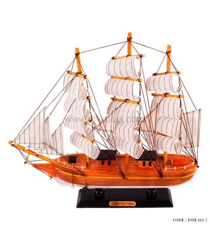 مدل کشتی دکوری بادبانی چوبی سری 7-161