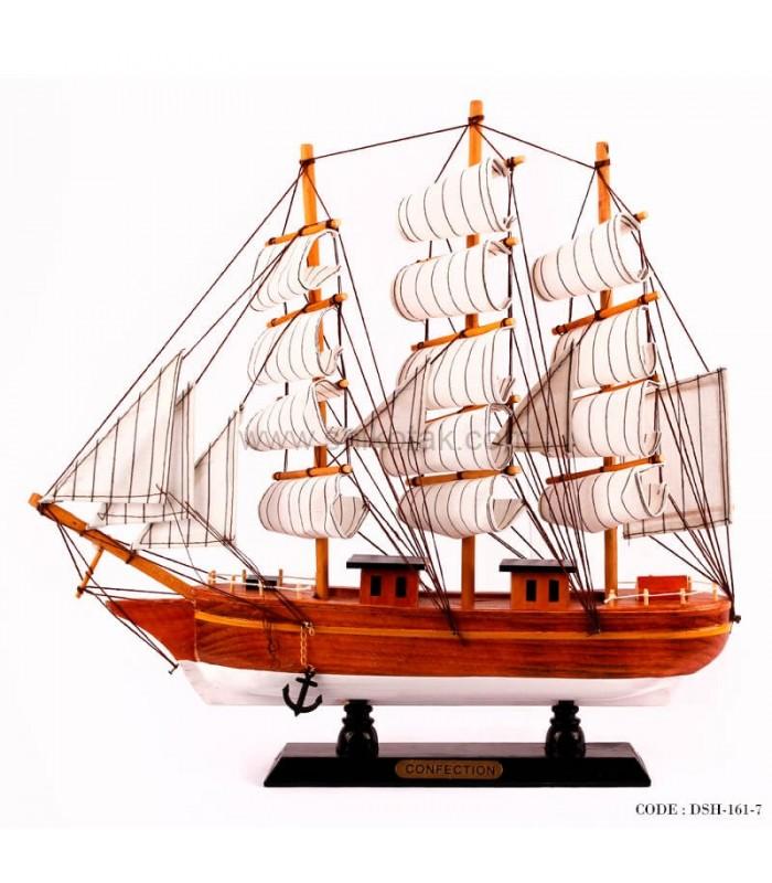 خرید کشتی دکوری بادبانی چوبی سری 7-161