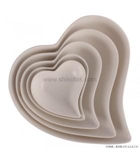 سرویس کاسه قلبی سرامیکی 5 تایی