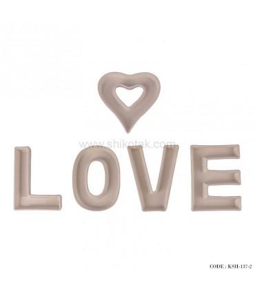 اردوخوری 5تکه سرامیکی طرح Love