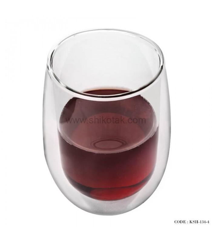 خرید لیوان شیشه ای دوجداره