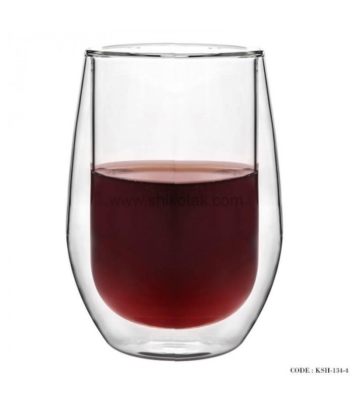 لیوان شیشه ای دوجداره