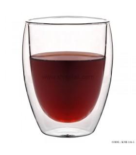 لیوان دوجداره شیشه ای