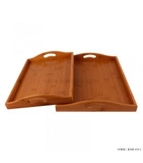 خرید سینی پذیرایی چوبی دو سایز