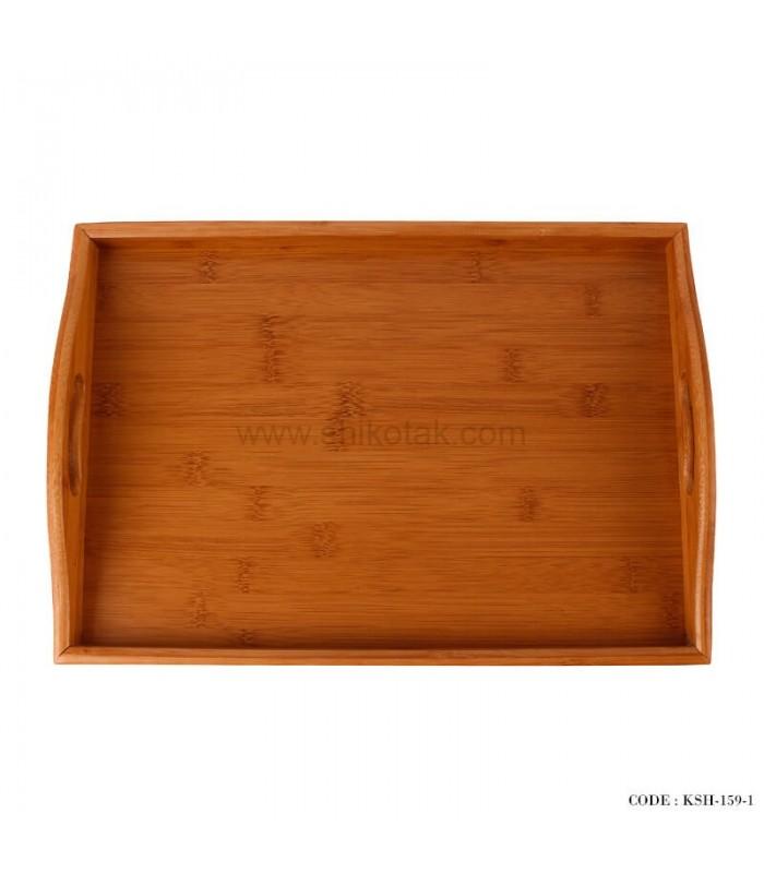 انواع سینی پذیرایی چوبی دو سایز