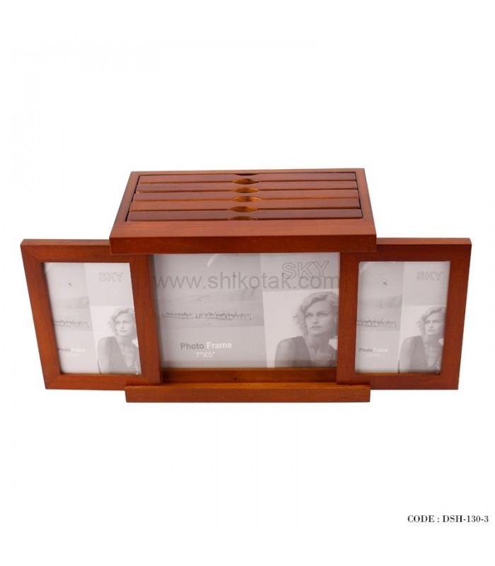 آلبوم و قاب عکس چوبی پنج تایی کشویی