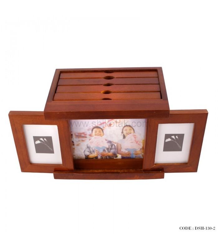 قاب عکس 4 تایی چوبی