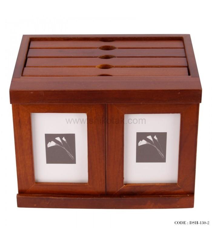 آلبوم و قاب عکس 4 تایی چوبی