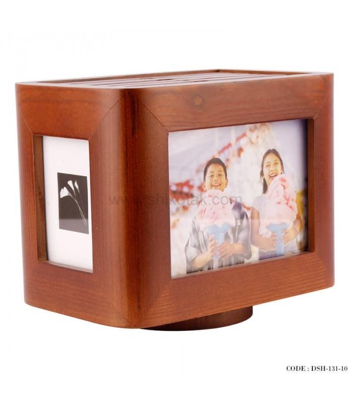 خرید آلبوم عکس 5 تایی چوبی چرخان