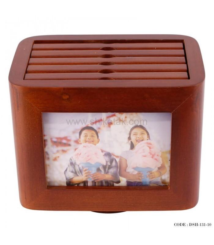 خرید اینترنتی آلبوم عکس 5 تایی چوبی چرخان