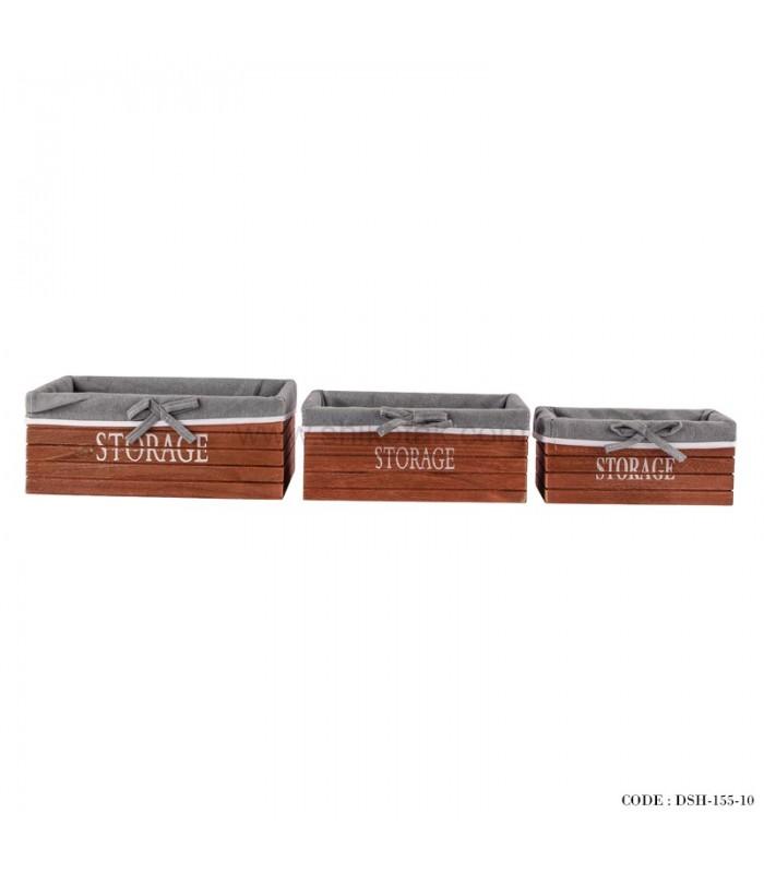 جعبه نظم دهنده کمد چوبی سه سایز