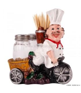 جاخلالی و نمکپاش طرح سرآشپز