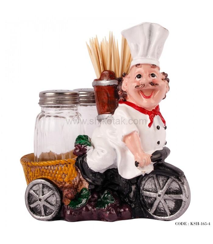 مدل جاخلالی و نمکپاش طرح سرآشپز