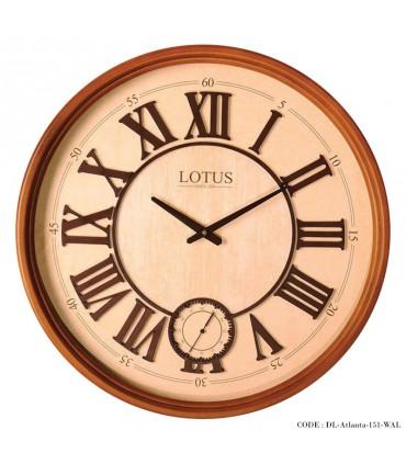 ساعت دیواری چوبی مدل Atlanta