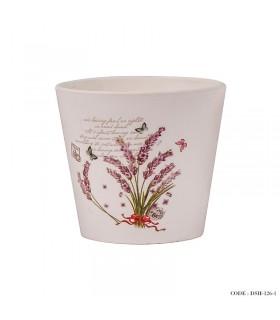 گلدان سرامیکی سفید کوچک سری c