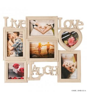 قاب عکس 6تایی طرح love
