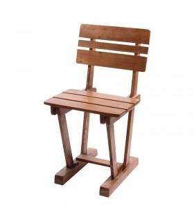 صندلی ناهار خوری چوبی مدل سه تیرک