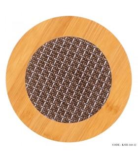 زیر قابلمه ای چوبی گرد
