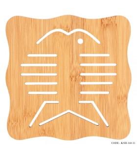 زیر قابلمه ای چوبی بامبو
