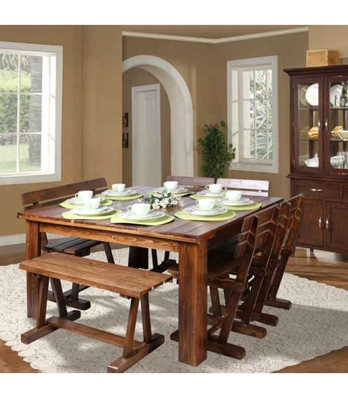 صندلی چوبی ناهار خوری مدل سه تیرک