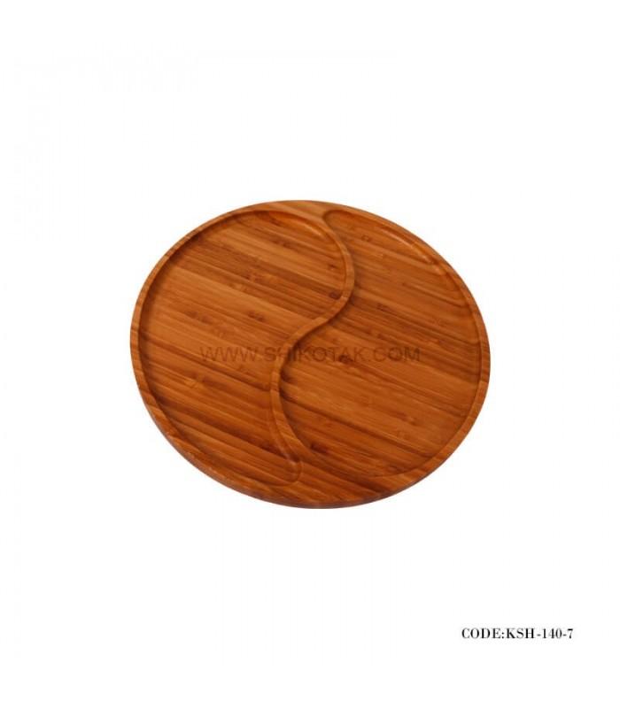 اردوخوری چوبی بامبو طرح گرد