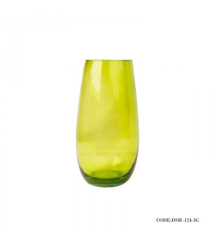 مدل گلدان شیشه ای رنگ سبز