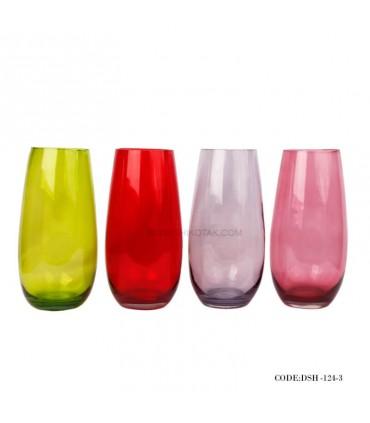 گلدان شیشه ای رومیزی طرح پافیلی