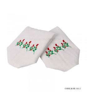 دستمال نمگیر آشپزخانه طرح گل لاله