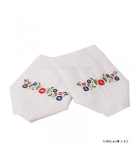 دستمال گردگیری طرح 'گل حاشیه