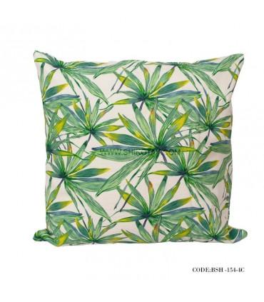 کوسن سبز طرح برگ بامبو