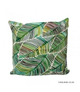 کاور کوسن طرح برگ های رنگی سبز
