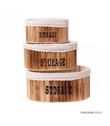 باکس داخل کمد چوبی سه سایز
