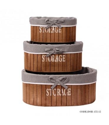 باکس کمجا داخل کمد چوبی سه سایز