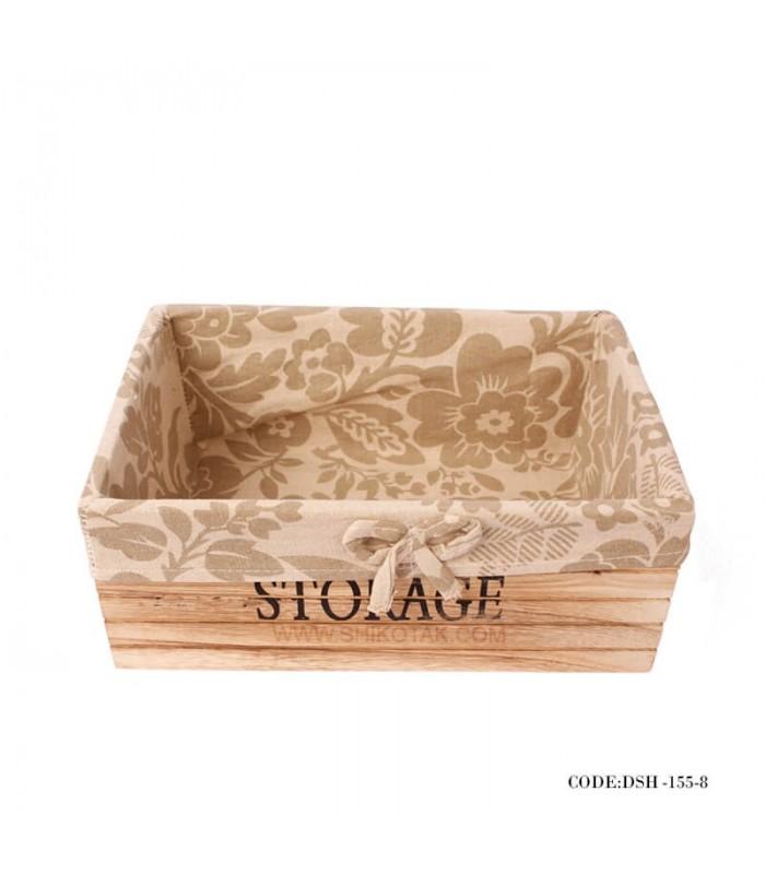 باکس داخل کمد چوبی با کاور پارچه ای