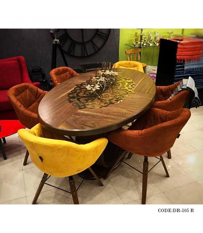 خرید رانر میز ناهار خوری رامادون سری 105 طلایی