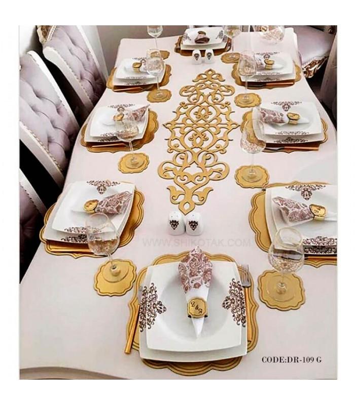 خرید فروش ست حلقه دستمال سفره رامادون سری 109