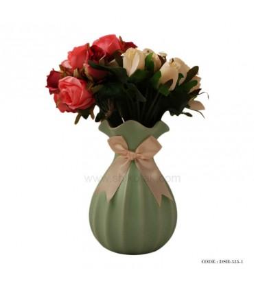 گلدان سرامیکی رومیزی طرح پاپیونی