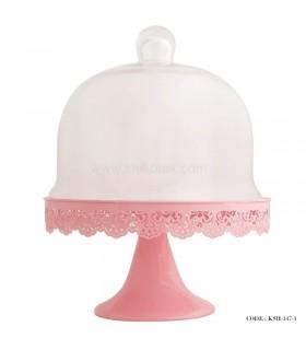 کیک خوری لب توری طرح ایکیا صورتی