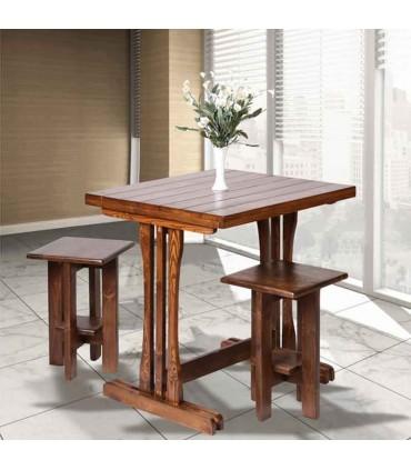 میز ناهار خوری چوبی دو نفره مستطیل