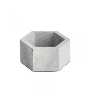 تصویر گلدان بتونی شش ضلعی