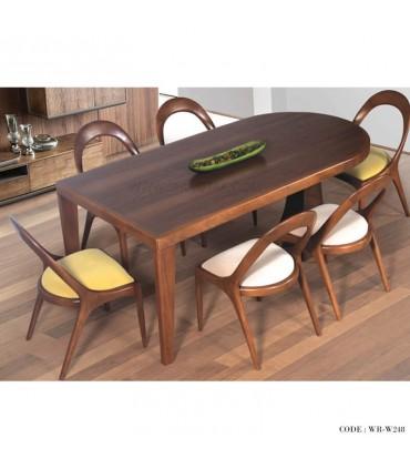 میز و صندلی ناهار خوری 6نفره طرح بیضی