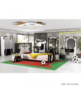 سرویس تخت و کمد فوتبالی مدل رئال مادرید