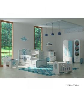 سرویس خواب کودک پسرانه مدل تاج آبی