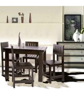 ست میز و صندلی غذا خوری چهار نفره طرح سوسن