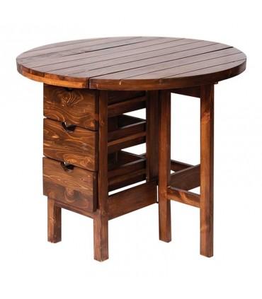 عکس میز و صندلی کمجای ناهار خوری طرح تاشو