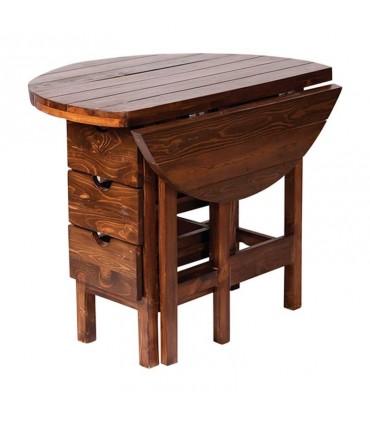 تصویر میز و صندلی کمجای ناهار خوری طرح تاشو