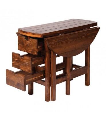 خرید اینترنتی میز و صندلی کمجای ناهار خوری طرح تاشو